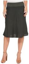 Three Dots Woven Linen Skirt