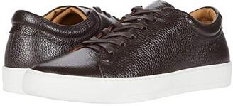 Eleventy Leather Tennis Sneaker (Brown) Men's Tennis Shoes