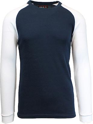 Galaxy By Harvic Galaxy by Harvic Men's Tee Shirts Navy/White - Navy & White Raglan Thermal Shirt - Men