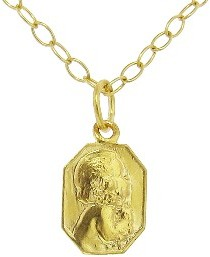 Cathy Waterman Classic Child Charm - Custom Engraved - 22 Karat Gold