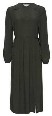 Dorothy Perkins Womens **Billie & Blossom Khaki Long Sleeve Shirt Dress, Khaki