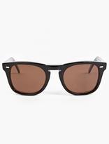 Cutler and Gross Black '1032' Acetate Sunglasses