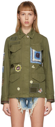Amiri Green M65 Military Trench Jacket