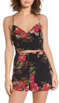 Leith Women's Flower Print Cami Crop Top