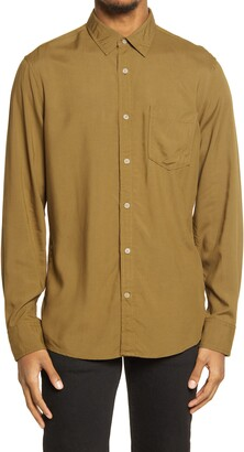 Treasure & Bond Washed Rayon Button-Up Shirt