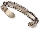 Dannijo Lane Chain & Crystal Cuff Bracelet
