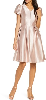 Rachel Parcell Shine Satin Twill Party Dress