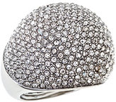 ABS Silvertone Disco Ball Pave Ring