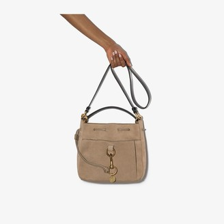 See by Chloe neutral Tony medium leather bucket bag