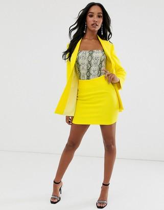 Asos DESIGN pop mini suit skirt