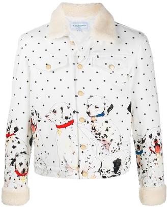 Casablanca Dalmatian print denim jacket