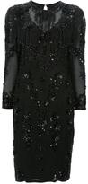 Oleg Cassini Vintage beaded shift dress