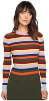 House of Holland Stripe Merino and Lurex Jumper