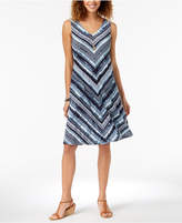 Style&Co. Style & Co Petite Cross-Back Printed Dress, Created for Macy's