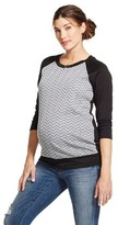 Maternity Long Sleeve Quilted Front Baseball Sweatshirt - Ma Cherie