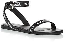 Balenciaga Women's Ankle Wrap Sandals