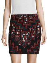 Mara Hoffman Women's Rug Intarsia Mini Skirt