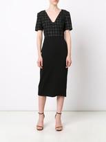 Jason Wu Windowpane Ss Day Dress W Ponte Skirt