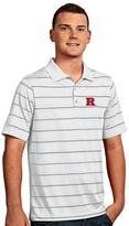 Antigua Men's Rutgers Scarlet Knights Deluxe Striped Desert Dry Xtra-Lite Performance Polo