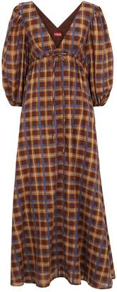 STAUD Plaid Amaretti Maxi Dress