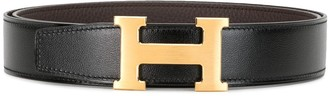 Hermes H buckle reversible belt