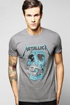 Boohoo Metallica License Print T Shirt