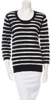 Rebecca Minkoff Sheer-Accented Striped Sweater