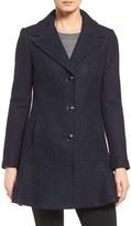 Kensie Women's Notch Lapel Peplum Coat
