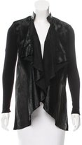 Alice + Olivia Ponyhair-Accented Wool Cardigan w/ Tags