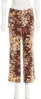Dolce & Gabbana Floral Print Linen Pantrs