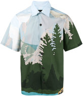 Prada Mountains Printed Bowling Shirt