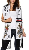 Ed Hardy Skull/Sword Rectangle Knit Scarf