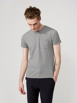 Frank + Oak Crewneck Pocket T-Shirt in Grey Heather