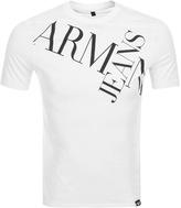 Giorgio Armani Jeans Crew Neck Logo T Shirt White