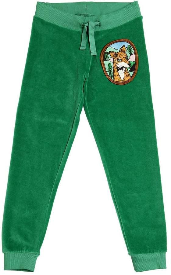 Mini Rodini Fox Organic Cotton Chenille Sweatpants