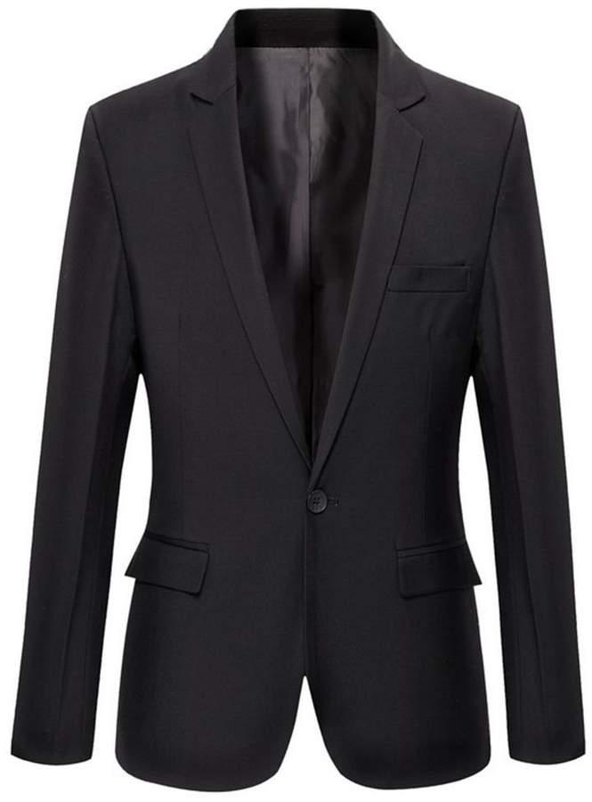 Benibos Mens Slim Fit Casual One Button Blazer Jacket (M, )