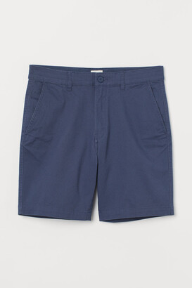 H&M Cotton Chino Shorts - Blue