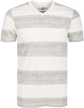 American Rag Men V-Neck Heathered Striped T-Shirt