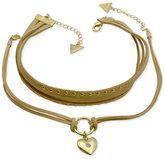 GUESS Gold-Tone 2-Pc. Set Faux Suede Choker Necklaces