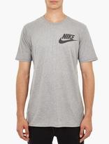 Nike Grey Cotton Logo T-Shirt