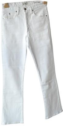 Eve Denim White Cotton Jeans for Women