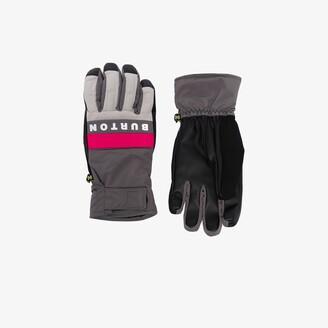 Burton grey Backtrack logo gloves