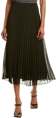 Anne Klein Sunburst Pleated Maxi Skirt