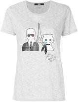 Karl Lagerfeld & Choupette in Paris T-shirt