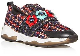 Kurt Geiger Women's Lara Embellished Slip-On Sneakers