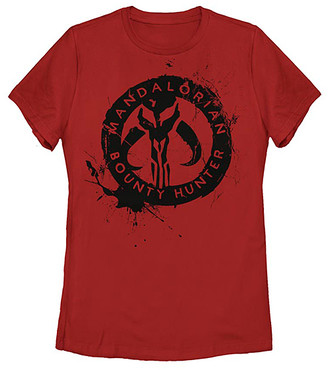 Fifth Sun Women's Tee Shirts RED - Star Wars Red Painted Skull Crewneck Tee - Women, Juniors & Plus