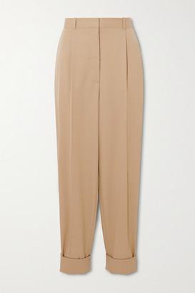 The Row Marta Tapered Wool-twill Pants - Beige