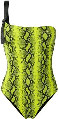 Off-White snake print swimsuit