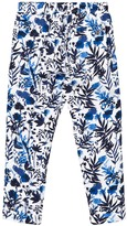 Ikks Blue Floral Print Trousers
