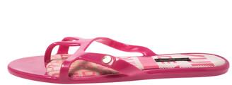 Louis Vuitton Magenta Rubber Slide Flats Size 38